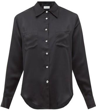 Officine Generale Carine Silk-satin Shirt - Womens - Black