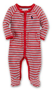 Ralph Lauren Boys' Interlock Striped Footie - Baby