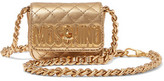 Moschino Metallic Quilted Leather Shoulder Bag