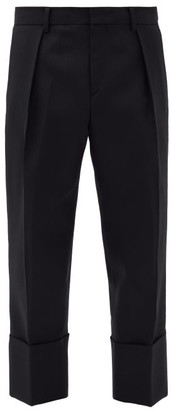 Wooyoungmi Cropped Wool Tailored Trousers - Black