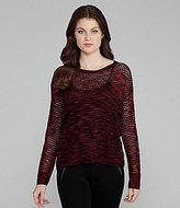 Kensie Space-Dye Crossover-Back Sweater
