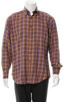 Etro Checkered Print Button-Up Shirt