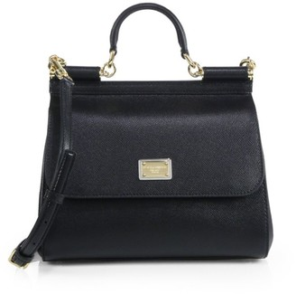 Dolce & Gabbana Medium Sicily Leather Top Handle Bag