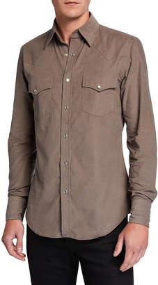 Tom Ford Men's Western Cotton Sport Shirt