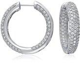 Micropavé  Hoop Diamond Earrings in 18k White Gold (2 1/3 ct, tw.)