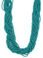 Kenneth Jay Lane Seed Bead Necklace/Turquoise