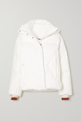 Chloé + Fusalp Hooded Wool-trimmed Embroidered Quilted Down Ski Jacket - White