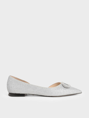 Charles & Keith Wedding Collection: Embellished Glitter Ballerina Flats