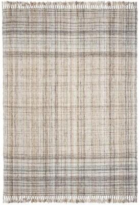 Lauren Ralph Lauren Jahi Plaid Handwoven Flatweave Wool Yellow/Beige Area Rug Rug Size: Rectangle 9' x 12'