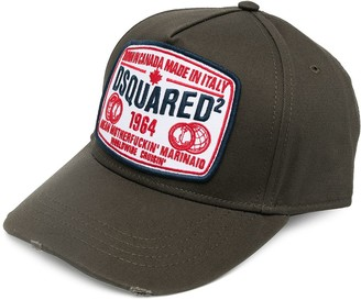 DSQUARED2 Logo-Patch Distressed Baseball Cap