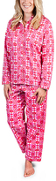 Malabar Bay Pink Star Burst Sateen Pajama Set
