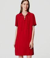 LOFT Lace Up Shirtdress