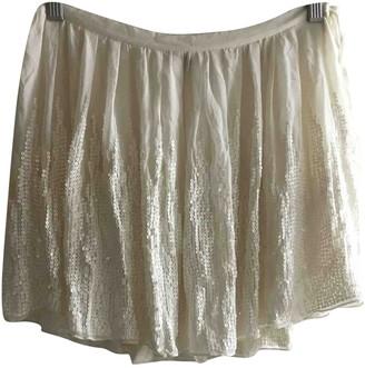 Joseph White Silk Skirt for Women