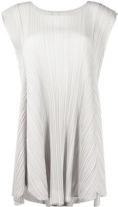 Pleats Please Issey Miyake Plisse Mini Dress