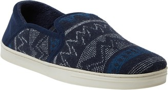 Dearfoams Men's Woven Fold-Down Closed-Back Slippers