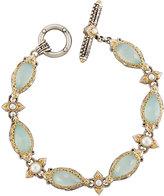 Konstantino Amphitrite Agate & Pearl Station Bracelet