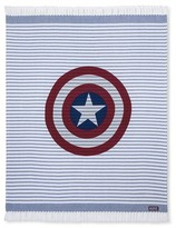 "Marvel Captain America® Blue Shield Woven Throw (50""x60"") Blue&Red"