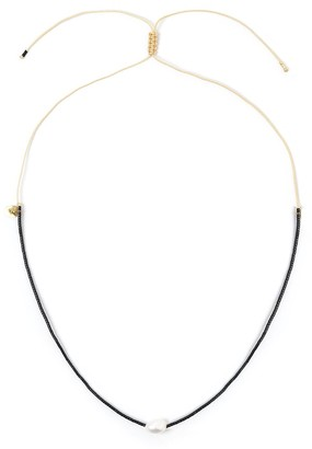 Arms Of Eve Matilda Pearl & Glass Beaded Necklace - Black