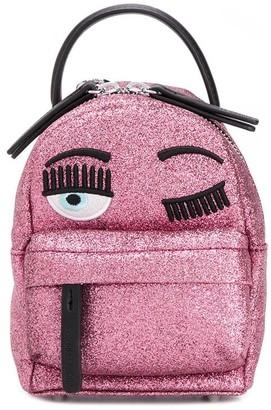 Chiara Ferragni small Flirting glittery backpack