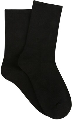 Ambra Bamboo Soft Top Crew Socks 2 Pack
