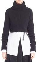 Valentino Women's Crop Wool & Cashmere Turtleneck Sweater