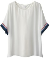 Tom Tailor Lined Striped Blouse with Short Sleeves