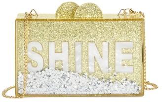 Bari Lynn Shine Glitter Acrylic Box Bag