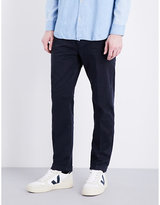 Closed Mid-rise Tapered Cotton Chinos
