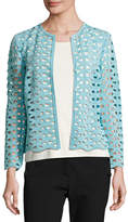 Escada Macramé Lace Long-Sleeve Jacket