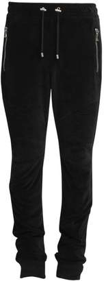 Balmain Ribbed Velvet Zip Sweatpants
