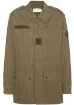 Saint Laurent Embellished Cotton And Linen Jacket