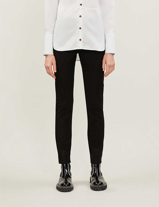 Me And Em Straight-leg high-rise stretch-gabardine trousers