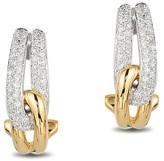 Effy Jewelry Effy Duo 14K Yellow and White Gold Diamond Earrings, 0.31 TCW