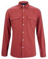 Burton Mens Rust Long Sleeve Twill Shirt