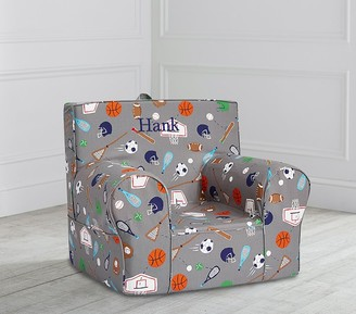 Pottery Barn Kids Tyler Sports Print Anywhere Chair Slipcover Only