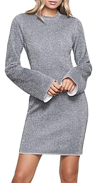 Good American Bell-Sleeve Sparkle Dress