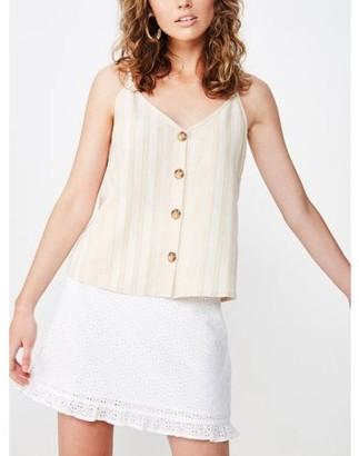 Cotton On Juniors' Allie Button Front Cami