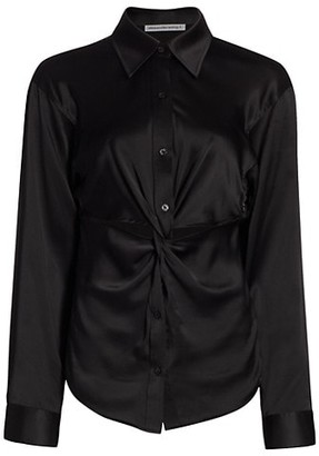 alexanderwang.t Twisted Button-Down Top