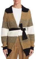 Brunello Cucinelli Colorblock Striped Cardigan