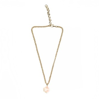Goddess Rose Quartz Mini Necklace Silver