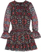 Ella Moss Girls' Floral Bell-Sleeve Dress