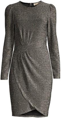 MICHAEL Michael Kors Lurex Wrap Skirt Sheath Dress
