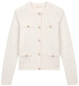 Maje Mission Lurex Cardigan