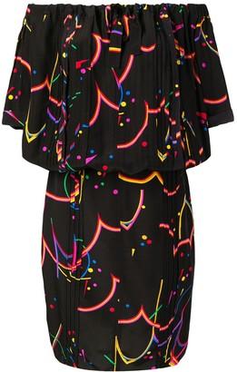 Prada Pre-Owned Off-Shoulder Printed Dress