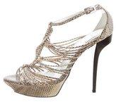 Roger Vivier Snakeskin Platform Sandals