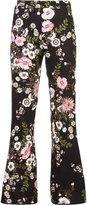 Giambattista Valli floral print flared trousers - women - Polyamide/Viscose - 42