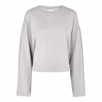 USA Pro Womens Tie Back Sweatshirt Flared Sleeves (Grey Marl 8)