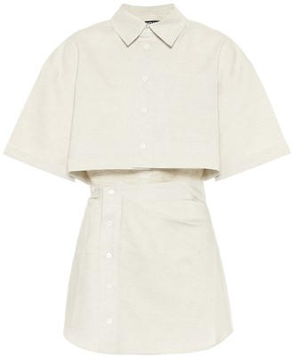 Jacquemus La Chemise Arles cotton and linen shirt