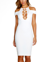 Forplay White Strappy Cold Shoulder Bodycon Dress