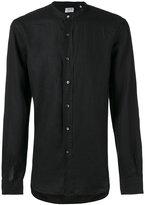 Aspesi band collar shirt - men - Linen/Flax - 39